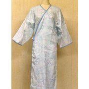 湯上りガーゼ寝巻き ブルー 「日本製」