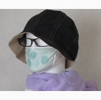 コットンシルクの日本製水玉マスク 抗菌消臭